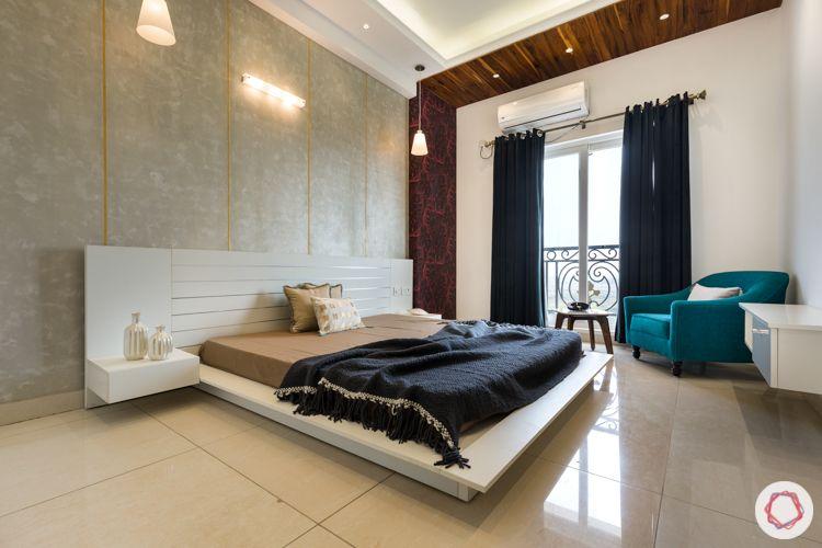 kids-bedroom-plush-wallpaper-low-floor-bed