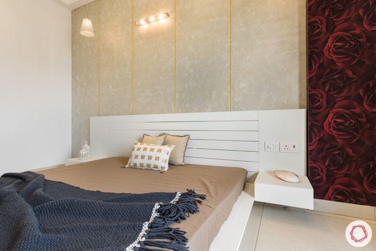 kids-bedroom-plush-wallpaper-low-floor-bed-rose