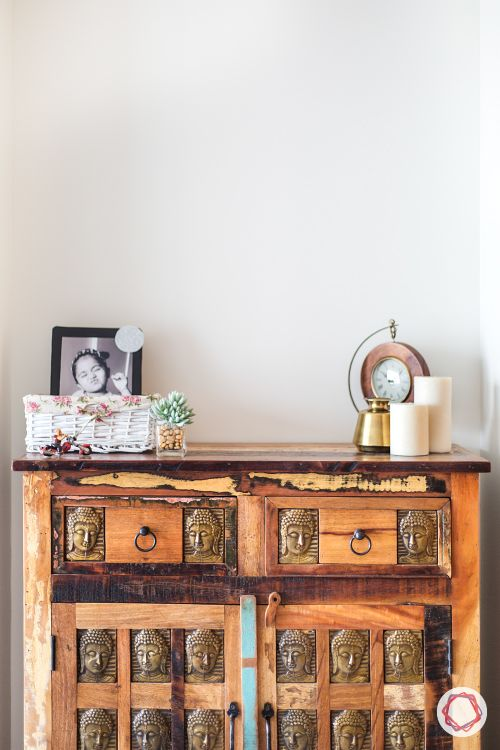 how to decorate with antiques in a modern style-wooden chest of drawers
