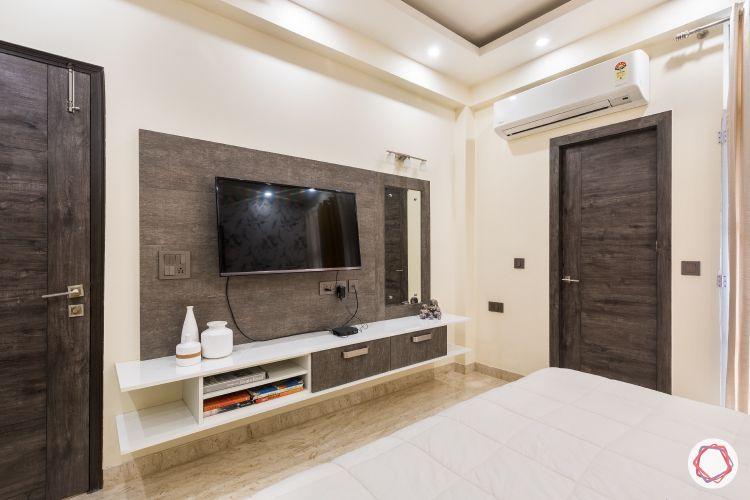 Livspace noida-veneer panel-mirror-tv unit