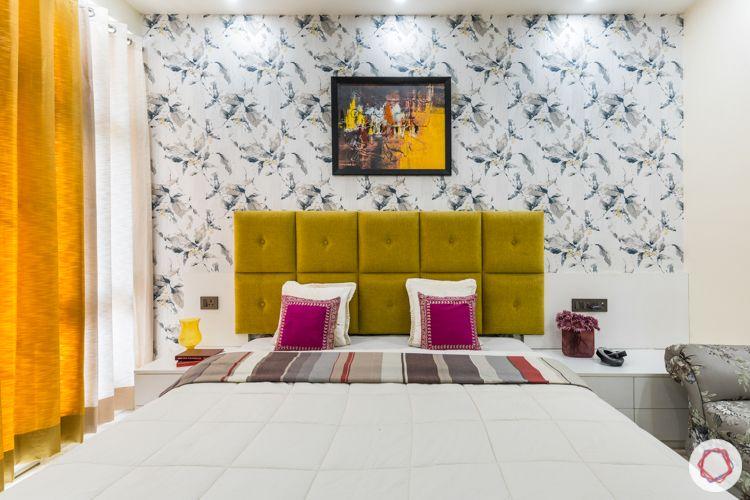 Livspace Noida-marigold headboard-wallpaper