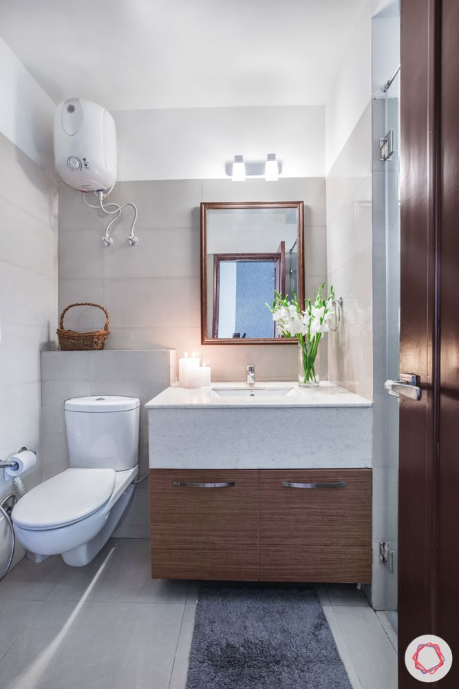 Bathroom Vastu-rectangle-mirror-white-counter