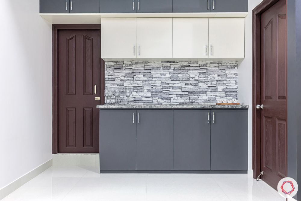 interior design for 3bhk flat-crockery unit designs-grey and white crockery unit