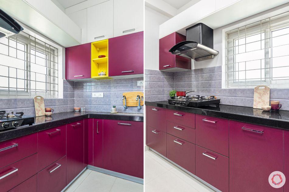 pink kitchen designs-grey backsplash designs