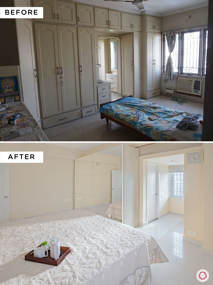 home interiors in chennai-sliding wardrobes-before and after-images