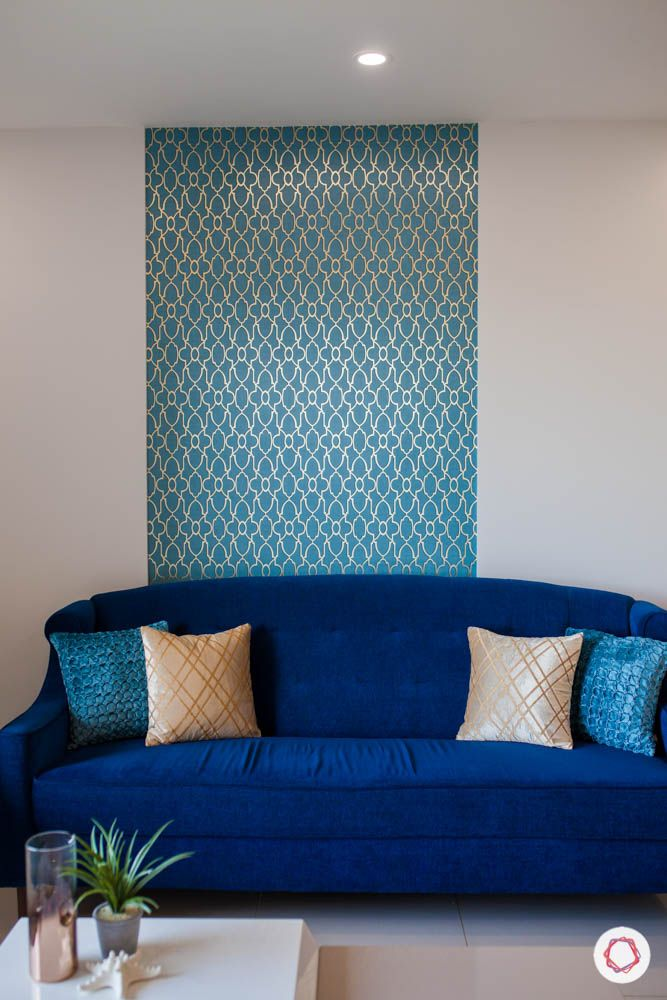 2-bhk-home-design-livspace-pune-living-room-blue-wallpaper