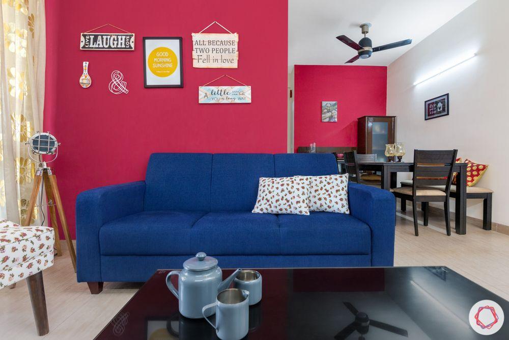 blue sofa-trends 2020-functional- walls-fuschia