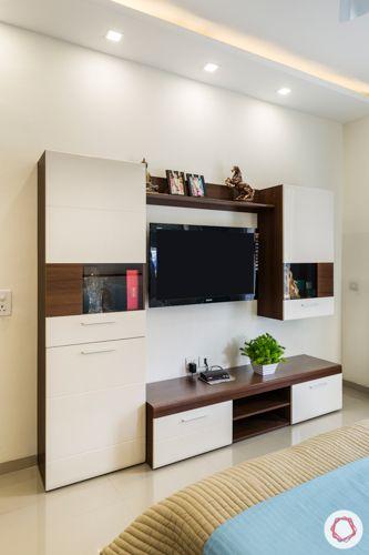 Laminate tv unit-concealed storage-display units-false ceiling