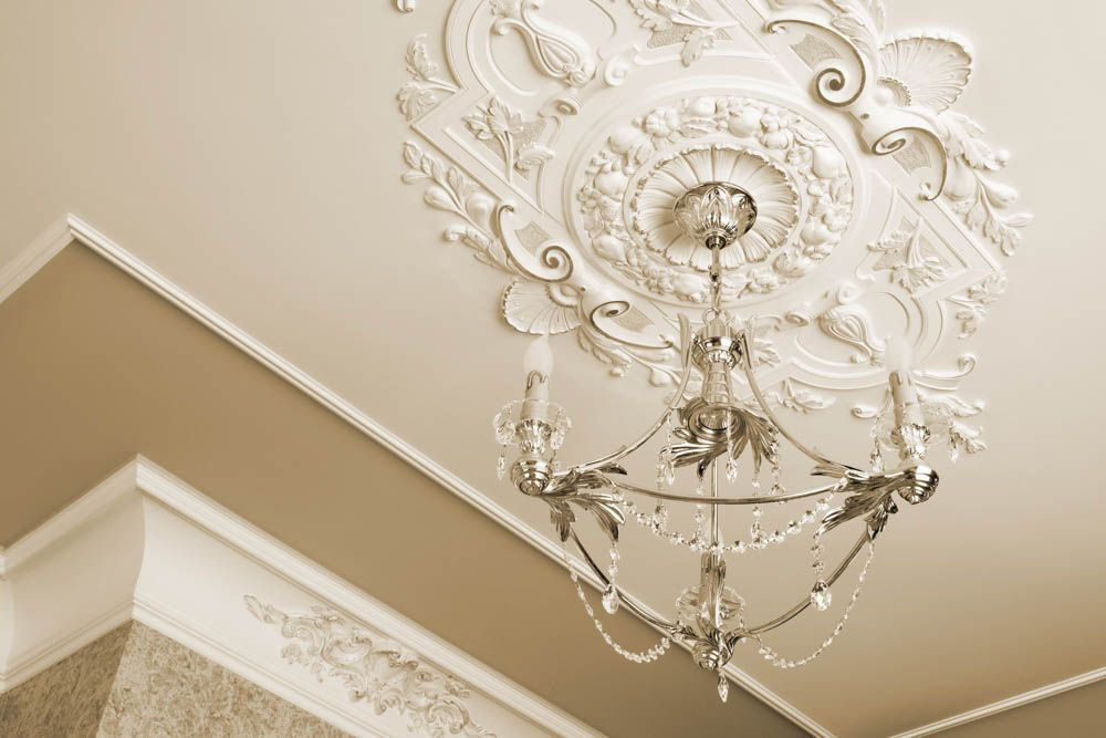 white ceiling designs-moulding designs