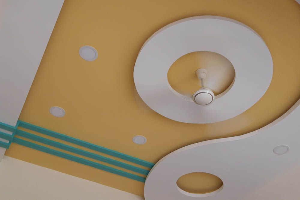yellow ceiling designs-pop ceiling designs