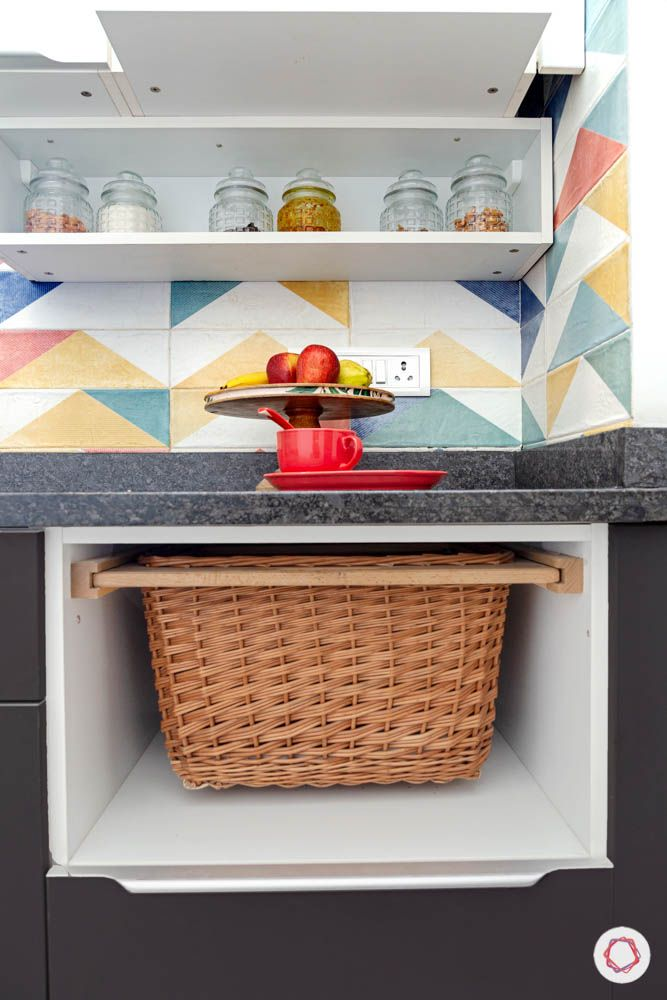 small modular kitchen design-wicker basket designs