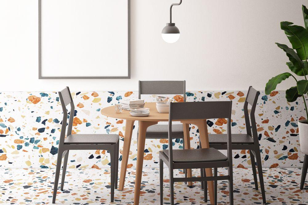 Terrazzo floor-dining room-four seater