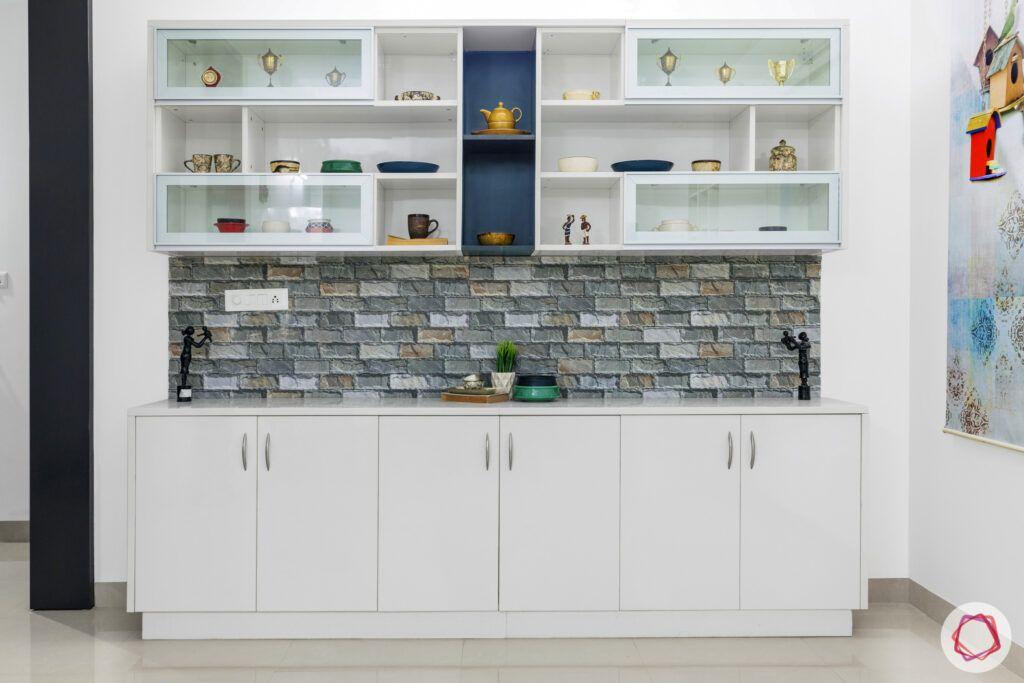 best interior designers in hyderabad-crockery cabinet-tile background