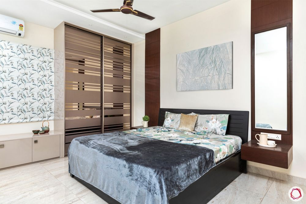 best interior designers in hyderabad-sliding wardrobes-bedside tables-bay seating