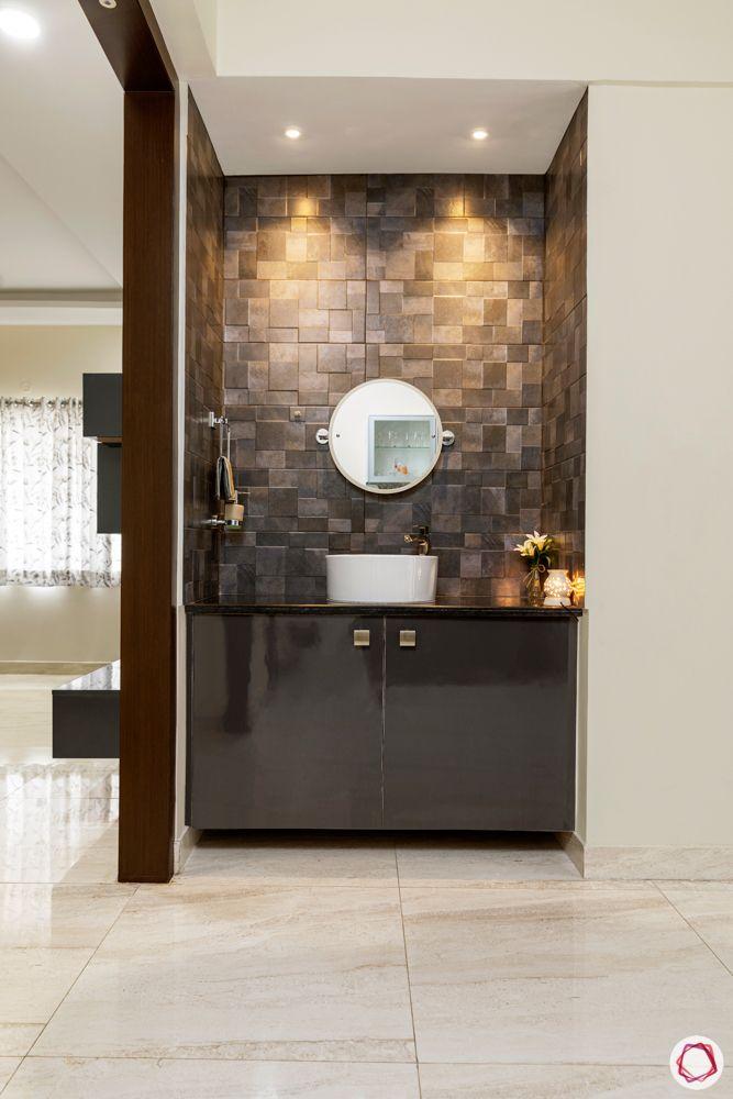 best interior designers in hyderabad-tiles-powder room-sink-cabinets