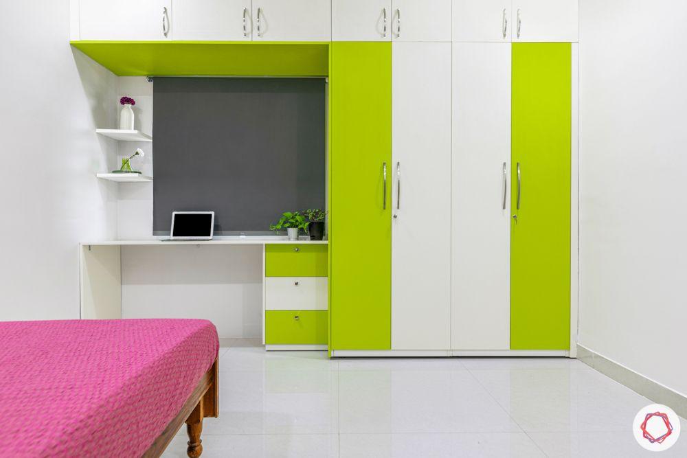 best interior designers in hyderabad-yellow and blue cabinets-kitchen designs