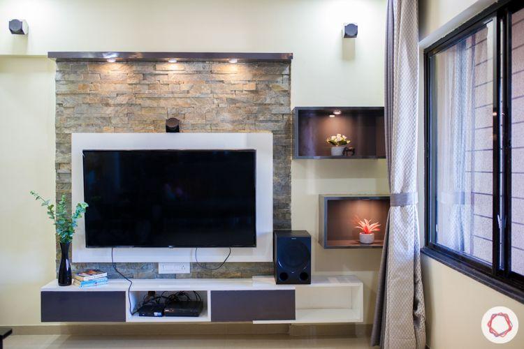 wall mounted TV unit-grey ad white unit-floating shelf designs