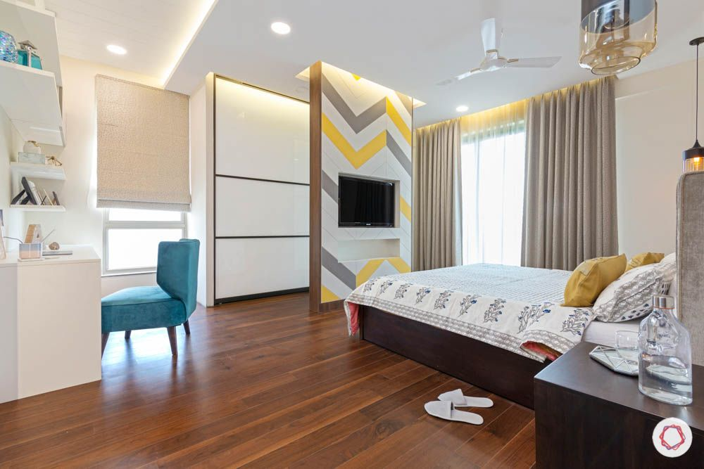 wall mounted TV unit-pattern tv wall-wardrobe-study unit-partition designs