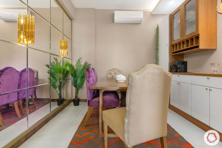 2-bhk-home-design-dining-room-mirror-wall