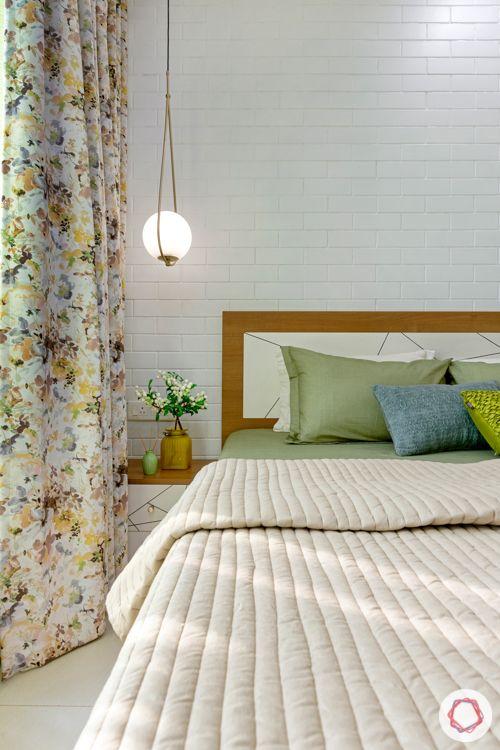 2-bhk-home-design-guest-bedroom-pendant-light