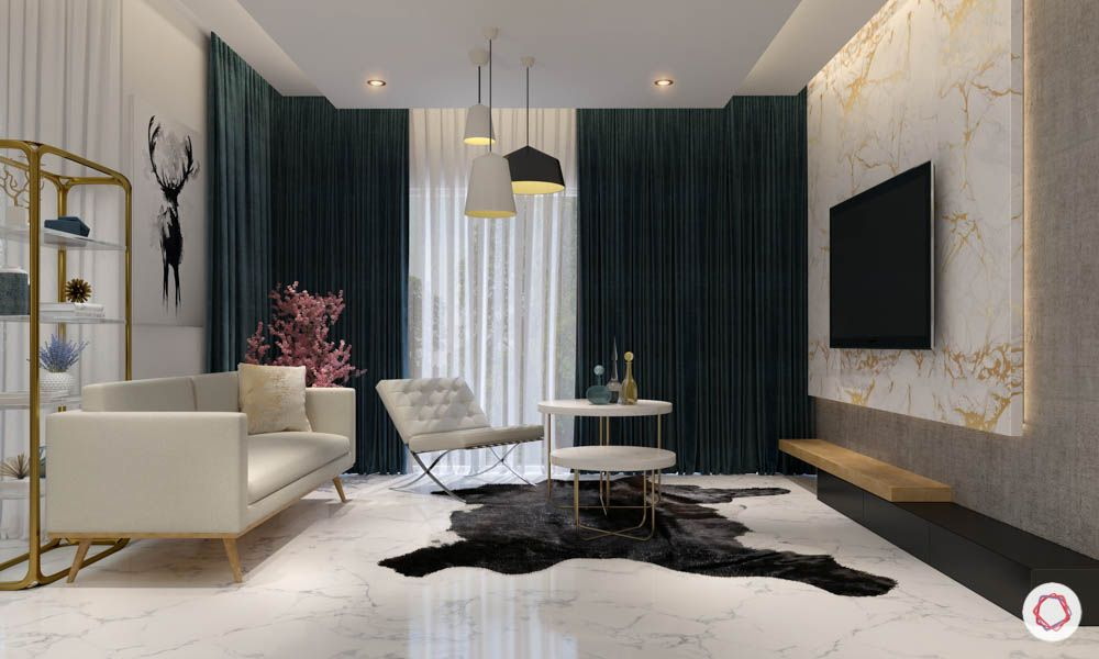 Carpet designs for drawing room-asymmetrical-marble floor