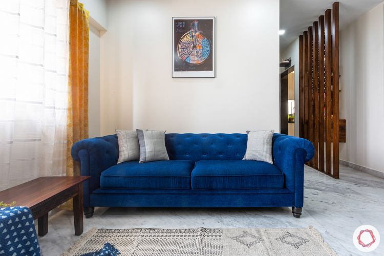 lodha luxuria priva-blue chesterfield sofa-blue sofa designs