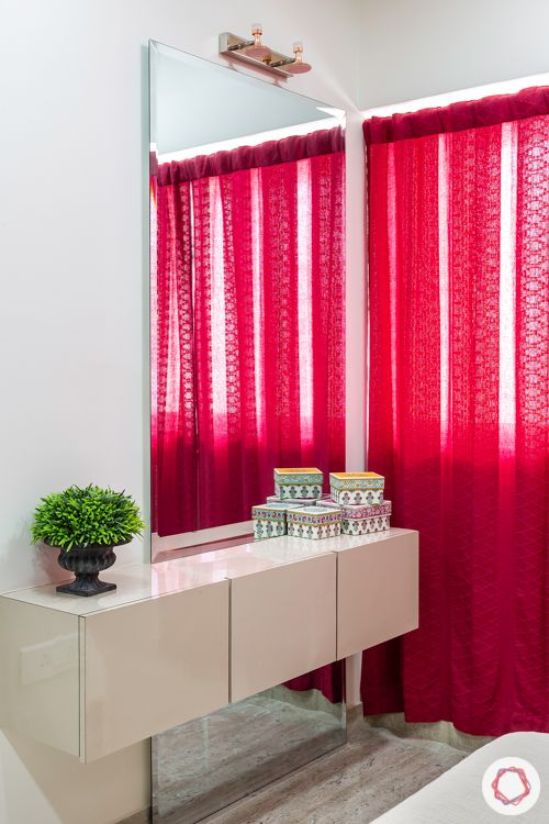 vanity unit designs-red curtain designs-floating unit designs
