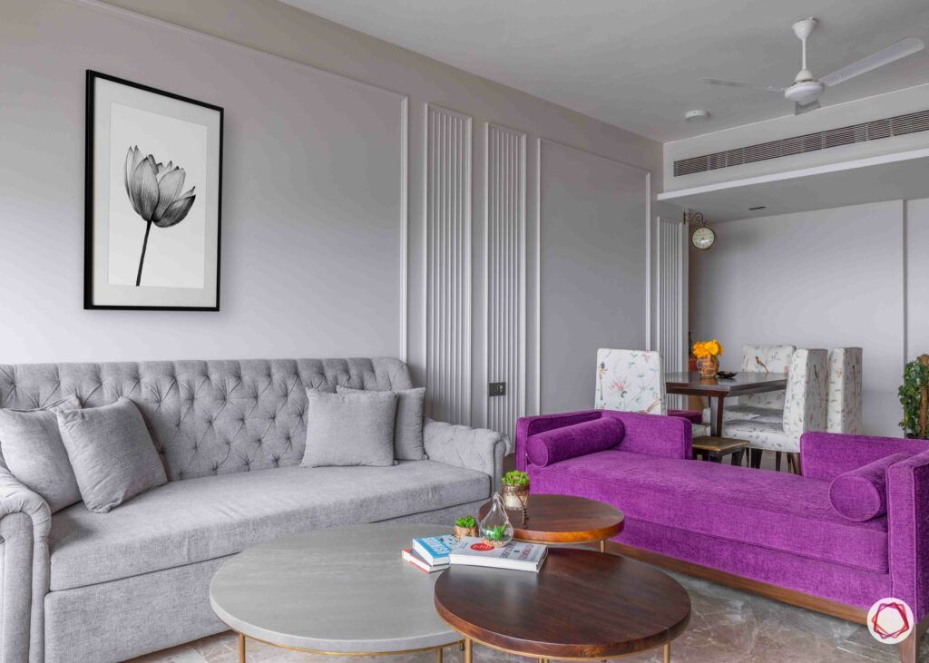 interior design in mumbai-grey couch-purple couch
