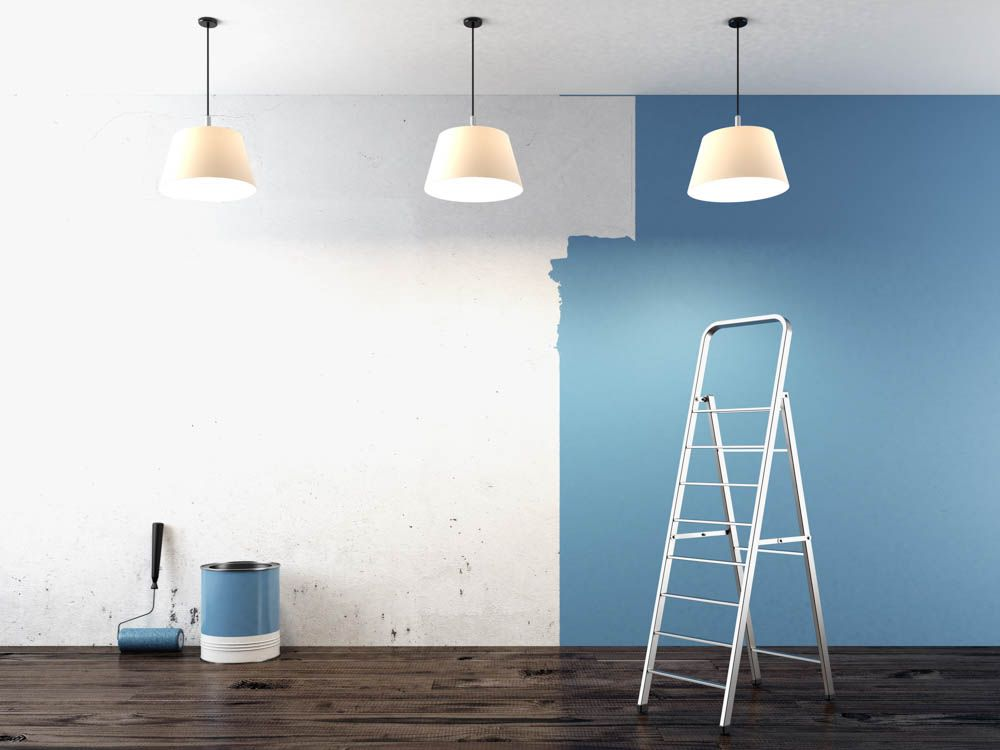 blue wall-ladder