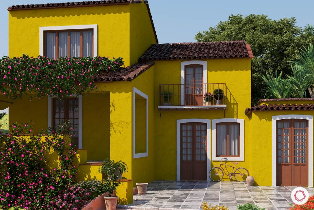yellow house-tiled roof