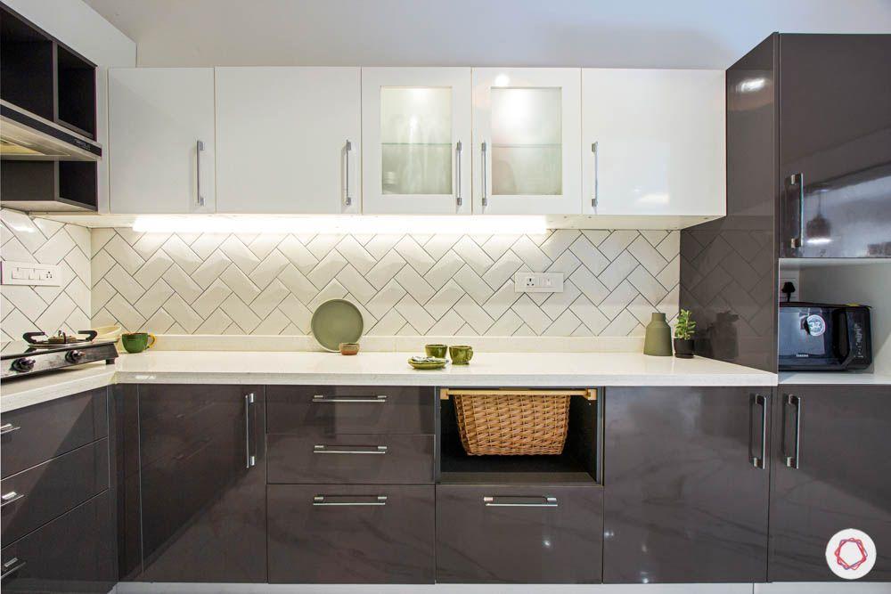 timeless kitchen designs-white backsplash-grey and white cabinets