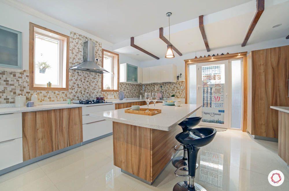 timeless kitchen designs-kitchen island-wooden cabinets-white backsplash