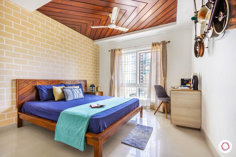 Modern Bedroom Ceiling Designs-bedroom ceiling-wooden panelling