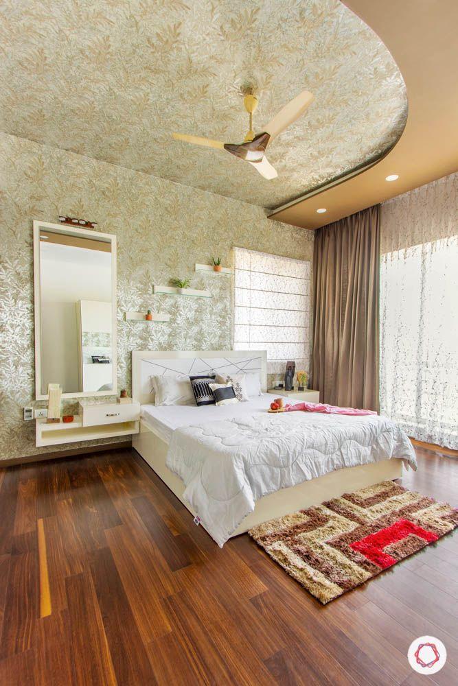 Modern Bedroom Ceiling Designs-wallpaper on ceiling