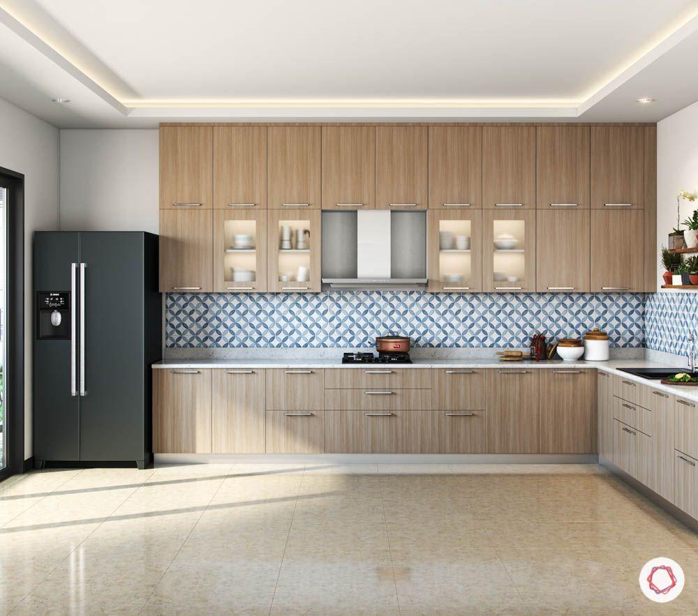 accent-colors-for-brown-kitchens-blue-backsplash