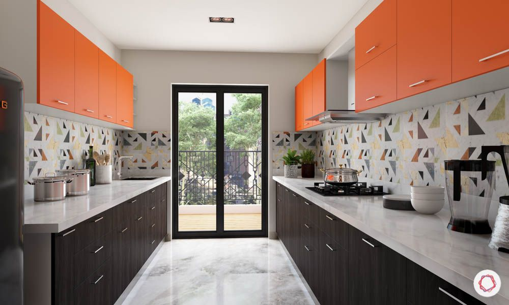 accent-colors-for-brown-kitchens-orange-wall-cabinets
