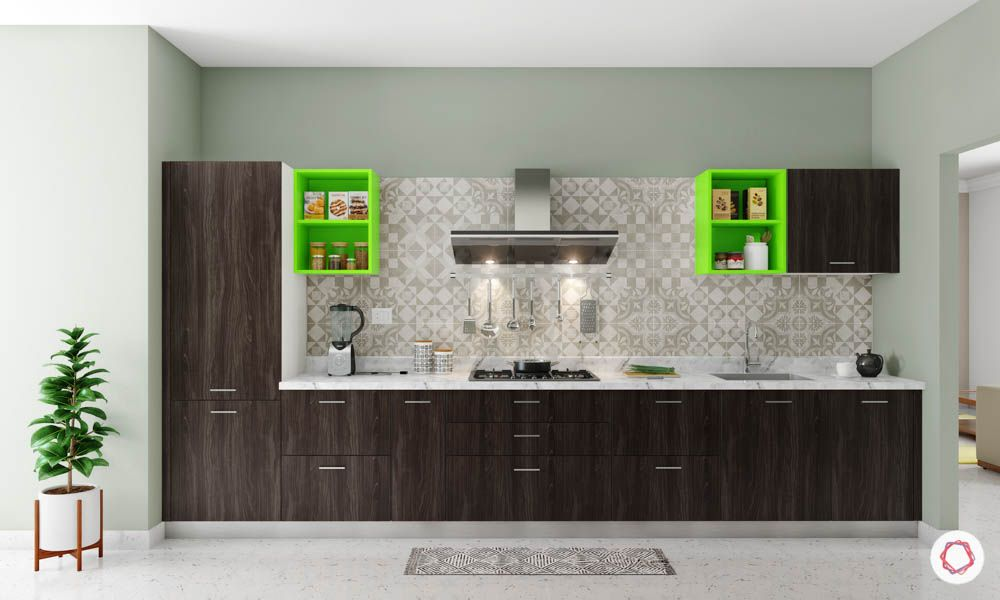accent-colors-for-brown-kitchens-green-shelves