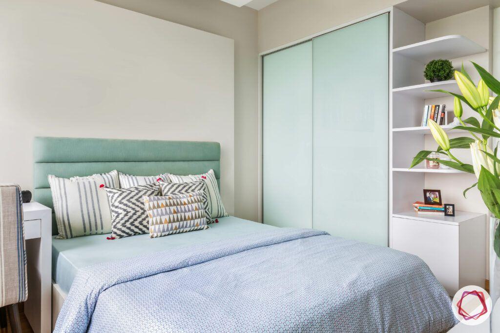 bedroom furniture-sliding wardrobe designs-back painted glass wardrobe