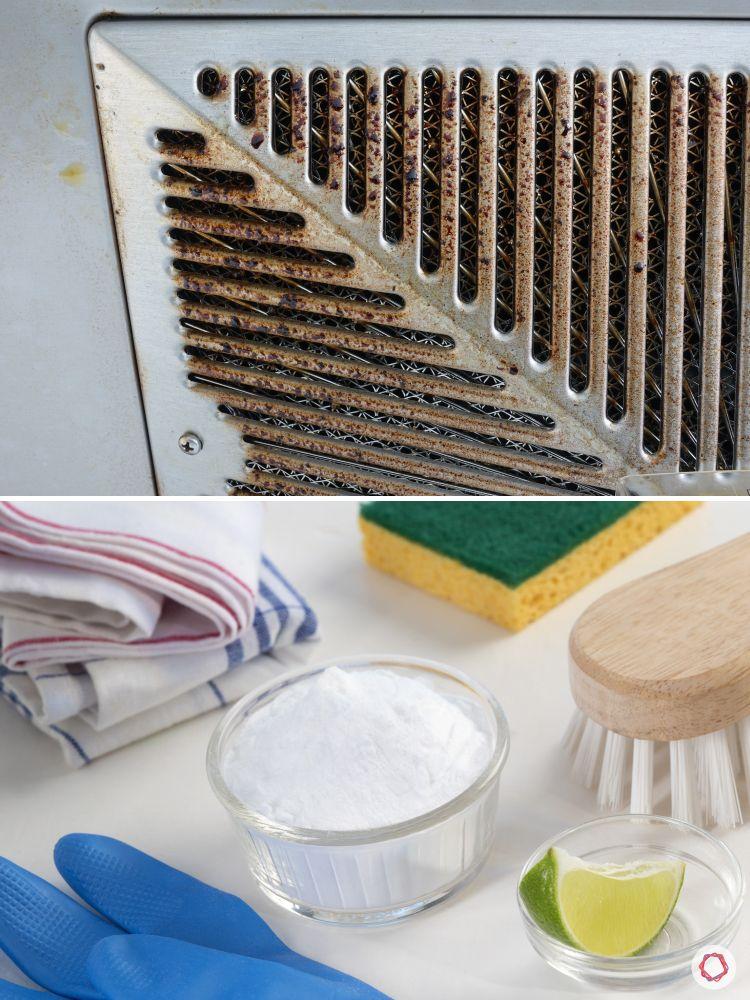 kitchen hacks-collage-chimney cleaning-lemon