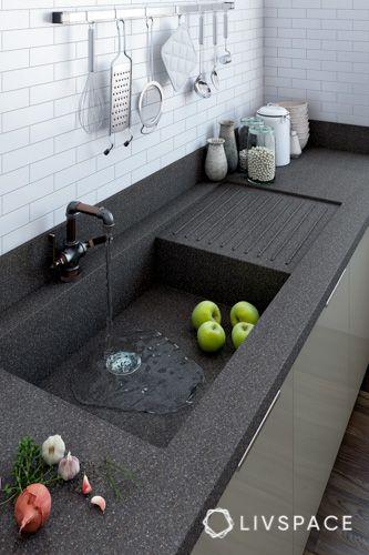 kitchen sink-sink shape-tap-kitchen countertop