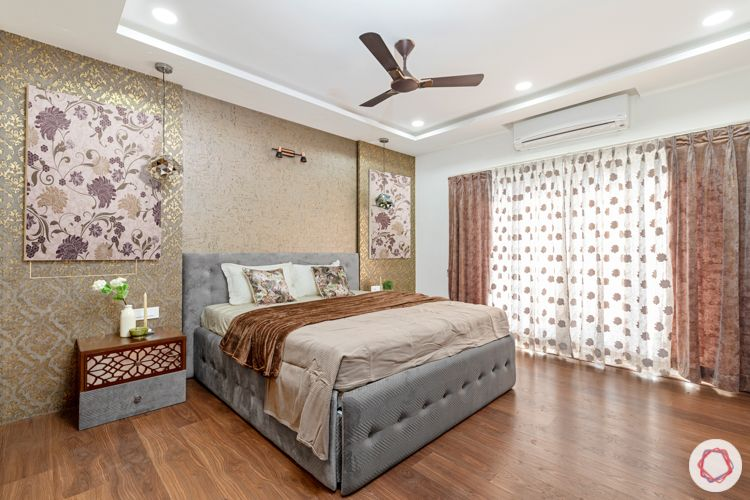 interior designers in hyderabad-wooden flooring designs-upholstered bed