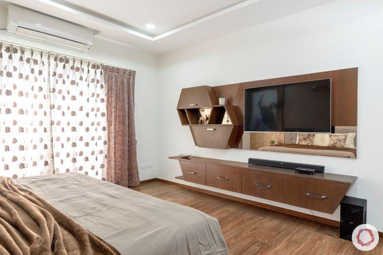 interior designers in hyderabad-wooden flooring designs-custom tv unit
