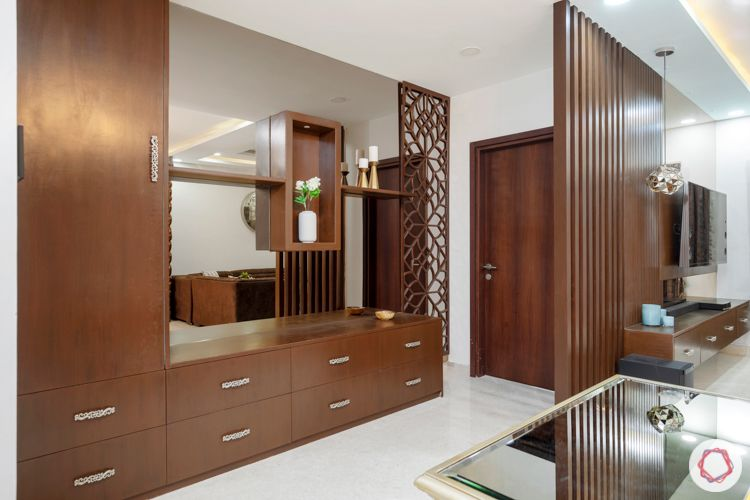 interior designers in hyderabad-crockery unit designs-mirror panels-jaali designs