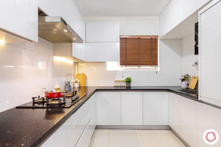 interior designers in hyderabad-white kitchen designs-glass cabinet shutters