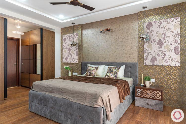 wallpaper designs-wooden flooring designs-sliding wardrobes