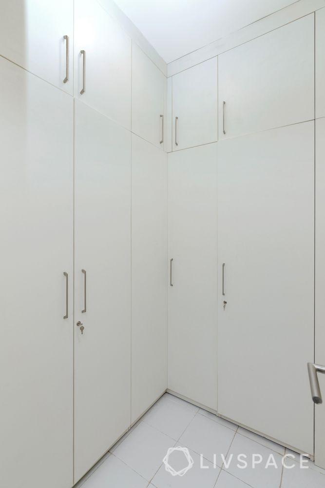 Walk wardrobe-white laminate-master bedroom