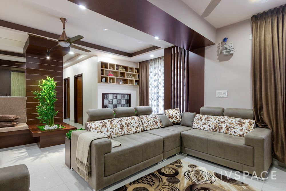 home-interior-designers-in-bangalore-prestige-bagamane-temple-bells-beige-l-shaped-sofa