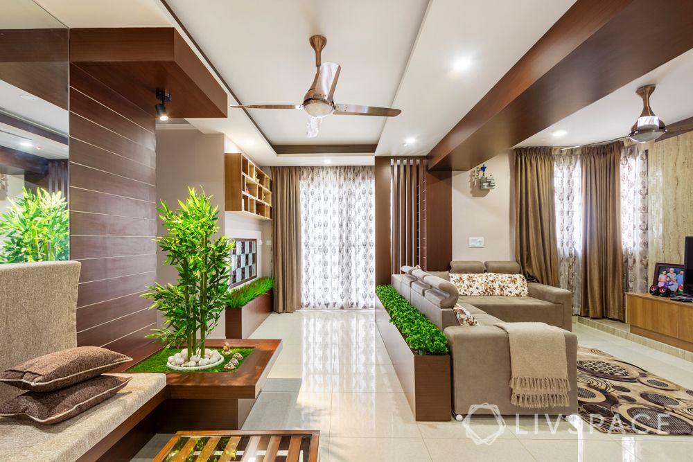 home-interior-designers-in-bangalore-prestige-bagamane-temple-bells-planter-partitions
