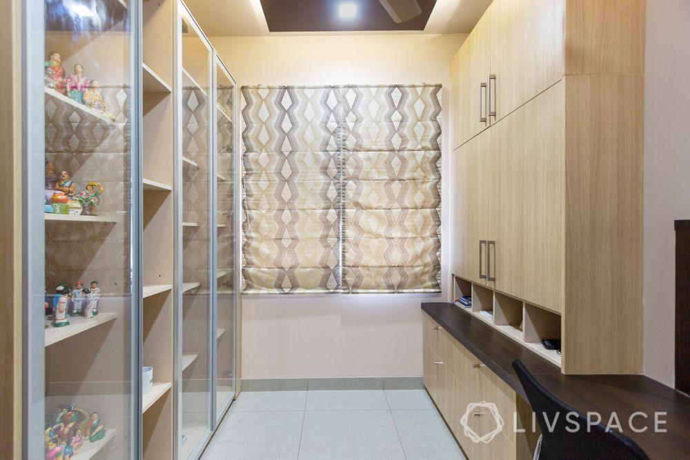 home-interior-designers-in-bangalore-prestige-bagamane-temple-bells-study-room