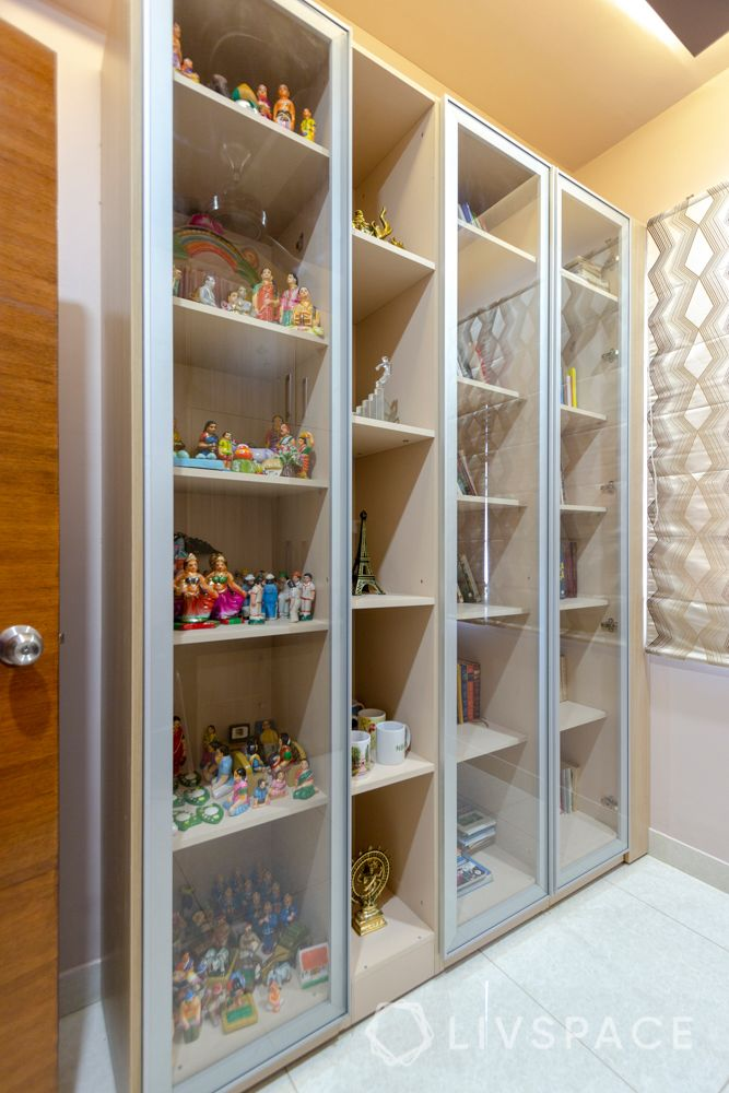 home-interior-designers-in-bangalore-prestige-bagamane-temple-bells-display-unit